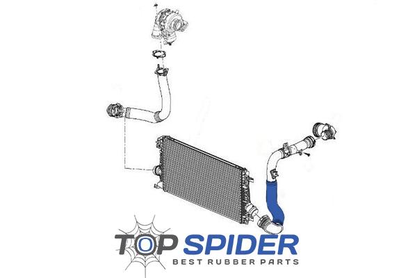 Intercooler Hose Chevrolet Cruze J300 Orlando 14 16 17d 18